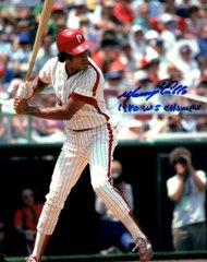 Manny Trillio, autographed 8x10, Philadelphia Phillies, 1980 WS Champs inscription