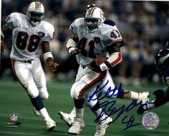 Keith Byars autograph 8x10, Miami Dolphins