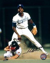 Frank White Autographed 8x10, Kansas City Royals
