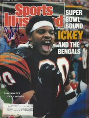 Ickey Woods autograph Jan 16 1989 SI Magazine, Bengals