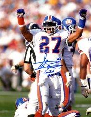 Autographed 8x10 Steve Atwater, Denver Broncos, Smiling Assassin