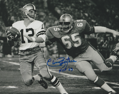 Elvin Bethea autograph 8x10, Houston Oilers vs Cowboys inscription: HOF