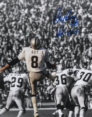 Ray Guy autographed 8x10, Oakland Raiders inscription HOF 2014 spotlight
