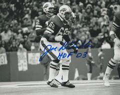 Joe Delamielleure autograph 8x10, Buffalo Bill, HOF