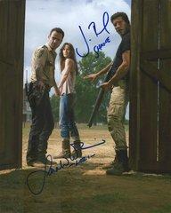 Dual autograph Walking Dead 8x10, Bernthal - Callies rare!