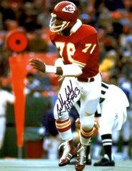 Bobby Bell autograph 8x10, Kansas City Chiefs, HOF inscription