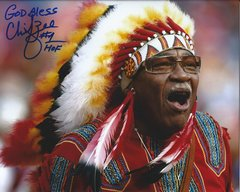 Chief Zee autograph 8x10, Washington Redskins