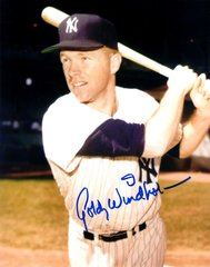 Gordy Windhorn autograph 8x10, New York Yankees