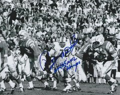 Ron McDole autograph 8x10, Buffalo Bills, 64/65 AFL Champs