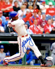 John Mayberry Jr. autograph 8x10, Philadelphia Phillies