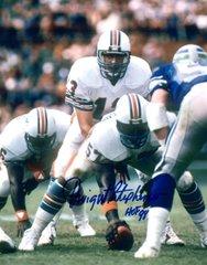 Dwight Stephenson autograph 8x10, Miami Dolphins, HOF inscript