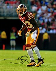 DeAngelo Hall autograph 8x10, Washington Redskins