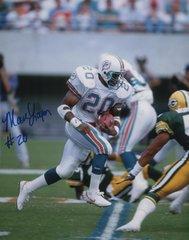 Marc Logan autograph 8x10, Miami Dolphins