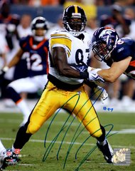 Jason Worilds autograph 8x10, Pittsburgh Steelers