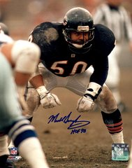 Mike Singletary autographed 8x10, Chicago Bears, HOF 98