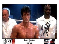 Tony Burton autograph 8x10, Rocky IV