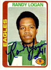Randy Logan autograph 1978 Topps Card #151 Eagles
