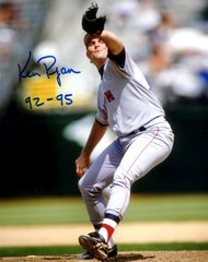 Ken Ryan, autographed 8x10, Boston Red Sox, 92-95 inscription