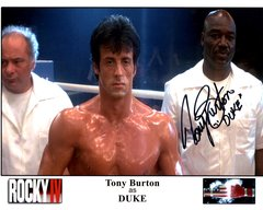 Tony Burton, autographed 8x10, Rocky IV, Duke inscription