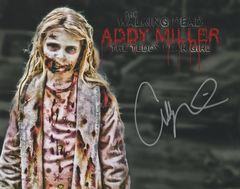 Addy Miller autograph 8x10, The Walking Dead, Teddy Bear Girl (custom photo))