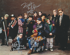 Autograph 8x10 of Larusso, Doherty and Adams, Mighty Ducks, signed in silver