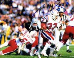 Tony Collins autographed 8x10, New England Patriots, with inscription