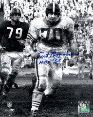 Art Donovan autograph 8x10, Baltimore Colts, HOF inscription