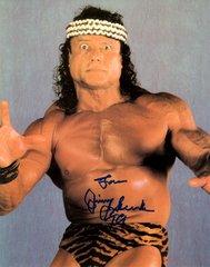 Jimmy Super Fly Snuka autograph 8x10, Wrestling