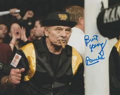Burt Young autograph 8x10, Rocky Balboa, Paulie inscription