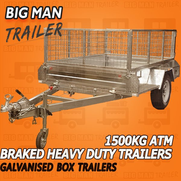 Man Caves For Sale Carrum Downs : Kg atm galvanized braked trailers with cage