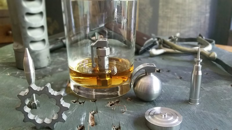 whiskey chillers that look like bullets, grenades