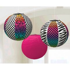 Totally 80's Round Printed Paper Lanterns