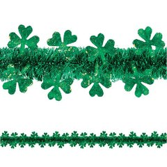 Shamrock Die-Cut Prismatic Garland - Green