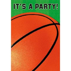Basketball Fan Folded Invitations 8ct