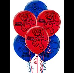 Super Mario Brothers™ Printed Latex Balloons
