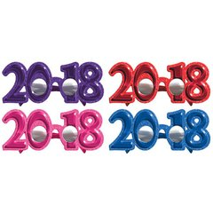 """2018"" New Year's Glitter Glasses - Multi-color"