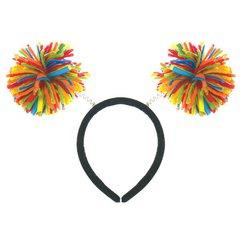 Rainbow Pom Pom Headbopper