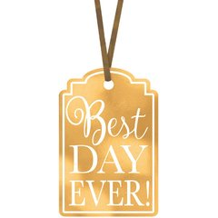 Best Day Ever Printed Tags - Gold