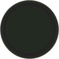 "Jet Black Paper Plates, 9"" 20ct"