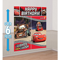 ©Disney Cars Formula Racer Scene Setters® Wall Decorating Kit