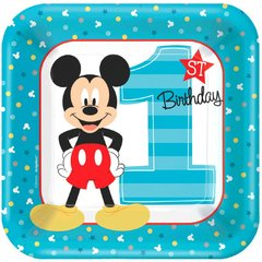 ©Disney Mickey's Fun To Be One Square Plates, 9""
