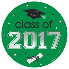 2017 Grad Car Decal - Green