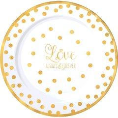 """""""Love"""" Round Premium Plastic Plates, 10 1/4"""""""