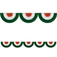 Fabric Bunting Green/White/Orange