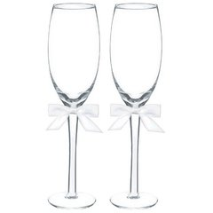 Basic with White Bow Toasting Glass