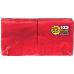 Apple Red Big Party Pack Luncheon Napkins, 125ct