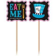 Mad Tea Party Printed Paper Picks