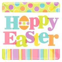 """Easter Expressions Square Plates, 10"""""""