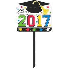2017 Grad Yard Sign - Multicolor