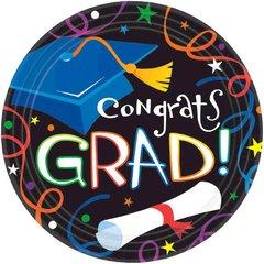 "Grad Celebration Plates, 7"""
